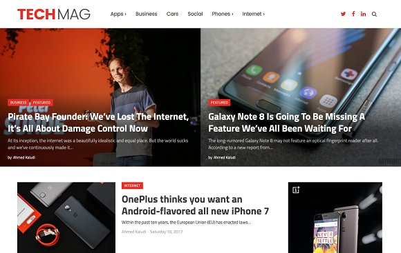 TechMag-Technology Magazine Theme
