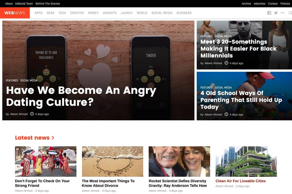 WebNews - Tech Magazine WP Theme