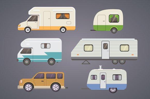 Retro Camper Trailer Collection