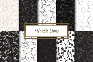 Marble Stone seamless patterns
