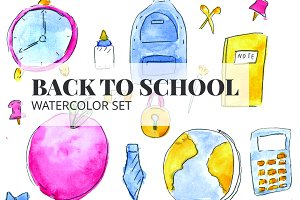 Back to School Watercolor Set