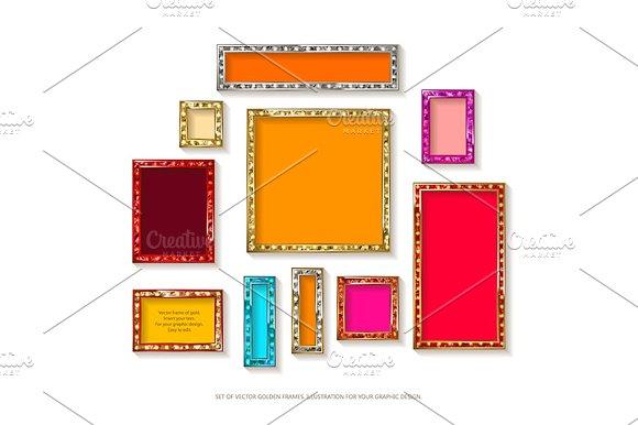 Gold Vector Frames Cinema Set