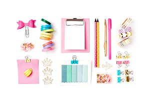 Stylish set with school stationery