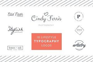 10 Lifestyle Typography Logos