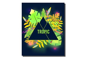 Tropic banner. Tropical flyer