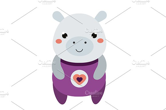 Cute Hippo Vector Icon