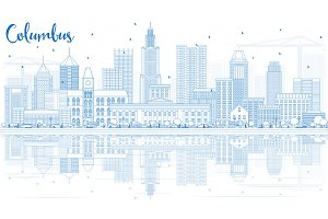 Outline Columbus Skyline