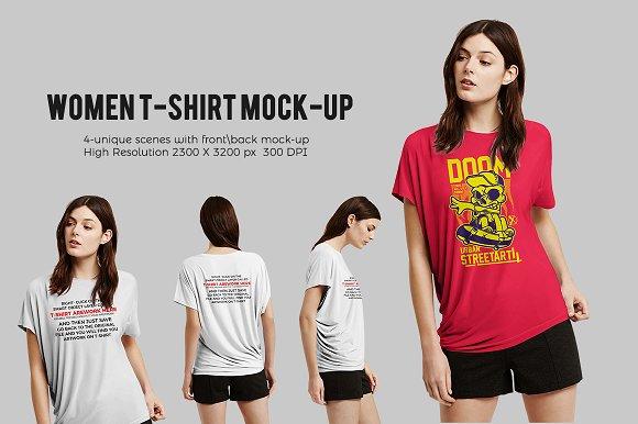 Download Women T-shirt Mock-up