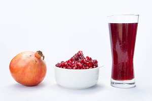 Pomegranate fruit, and tasty juice