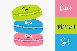 Three macaron or macaroon