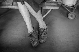 Photo of older women legs