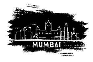 Mumbai India Skyline Silhouette
