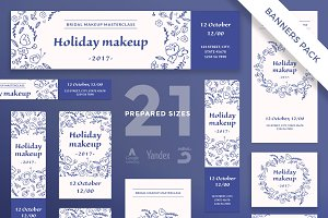 Banners Pack | Holiday Makeup
