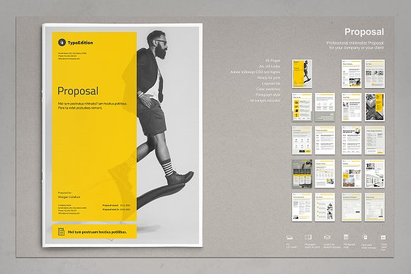 proposal bundle brochure templates creative market