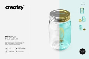 Money Jar Mockup Set