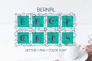 Bernal Drop Caps Color typeface