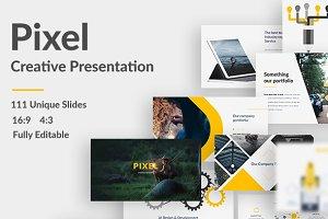 Pixel Creative Powerpoint Template