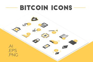 Bitcoin & Cryptocurrency Icon Set