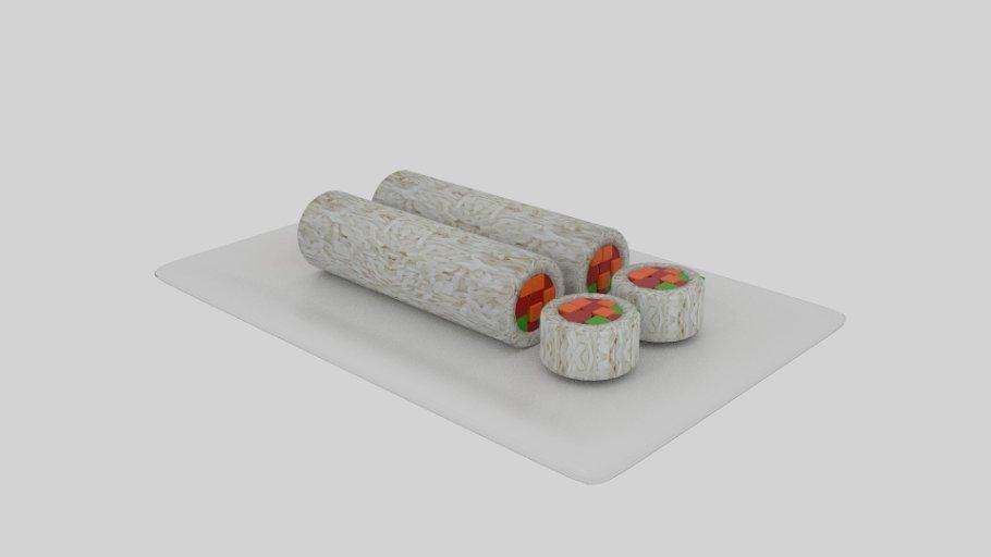 Cylinder Sushi Sliced