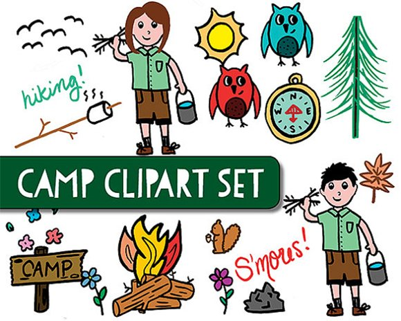 Camp Clipart Graphics Creative Market