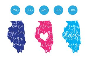 Illinois SVG Cut Files and Clipart