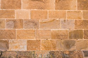 Stone and brick wall texture