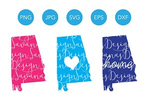 Alabama SVG Cut Files and Clipart