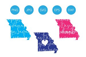 Missouri SVG Cut Files and Clipart