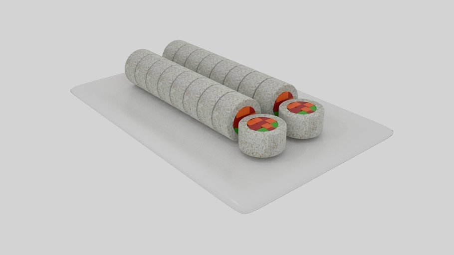 Rice Roll Sushi Sliced