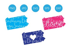 Pennsylvania SVG Cut Files Clipart