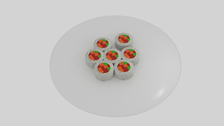 Rice Roll Sushi Platter