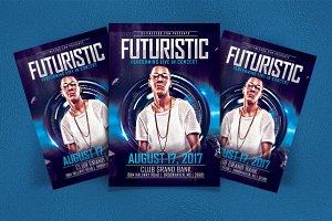 Futuristic Artist/DJ Flyer