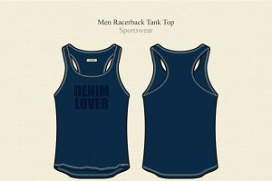 Men Racerback Sport Tank Top