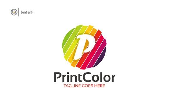 Prin Color P Letter Logo