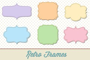 Retro Label Frames Shapes Set No. 29