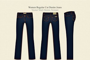Women Regular Cut Denim Jeans
