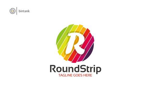 Letter R Strip Logo