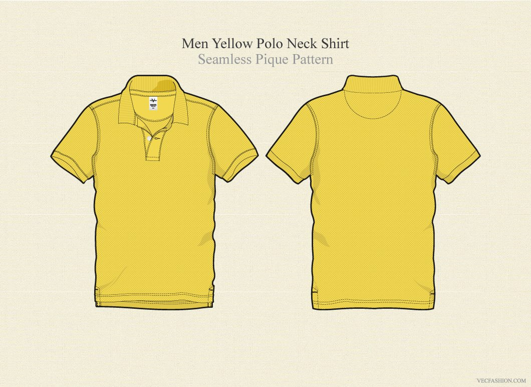 Men Yellow Polo Neck T Shirt Vector Illustrations Creative Market