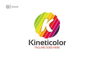 Colorful K Letter Logo