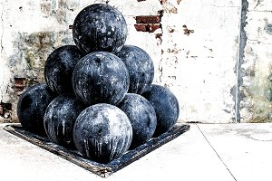 CANNON BALLS AT FT ZACHARY KEY WEST