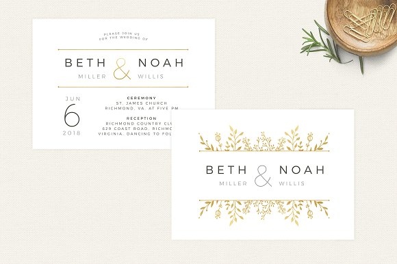 gold floral wedding invitation invitation templates creative market