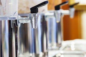 Water dispenser cooler valve