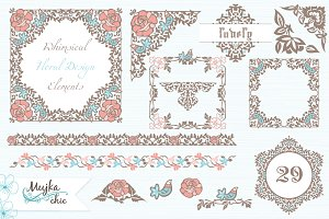 Whimsical Floral Design Elements