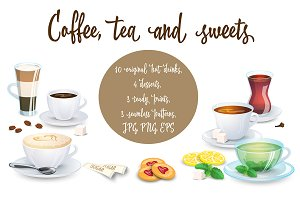 Coffee, tea and sweets
