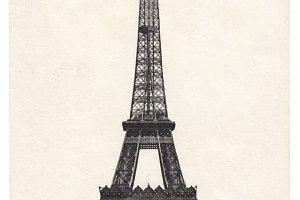 France, Paris, Eiffel tower, 1908