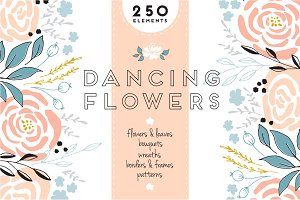 Big set of Floral clipart
