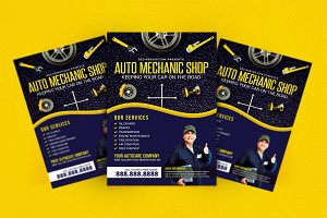 Auto  Mechanic Repair Shop Flyer