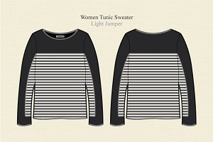 Women Long Sleeve Tunic Sweater