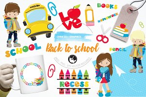 School graphics and illustrations