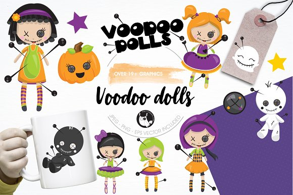 Voodoo Dolls Graphics Illustrations